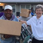 Sister Pamela Smith, SS.C.M., works at St. Francis Center, welcoming and providing living essentials to migrants arriving at St. Helena Island, S.C. She was recently named South Carolina 2018 Woman Religious of the Year.