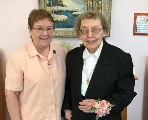 Sisters Seton and Bernadette Marie